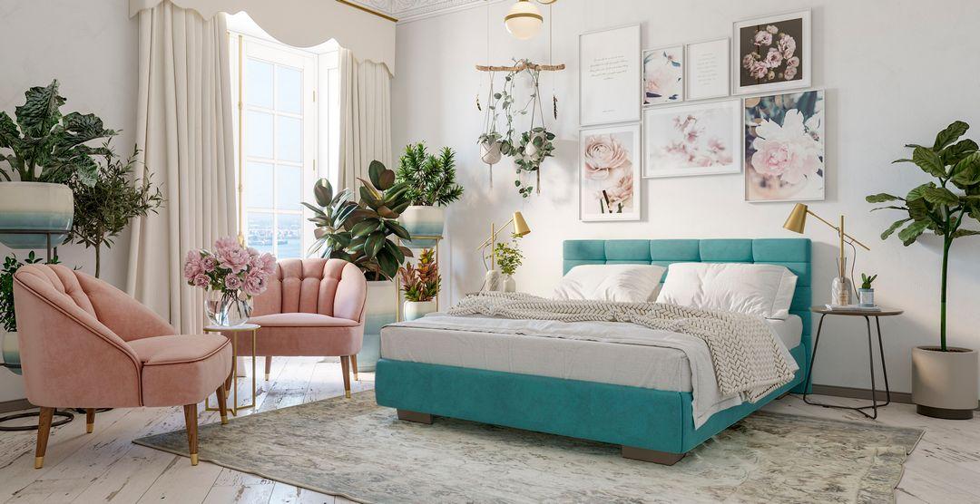 Кровать в интерьере от Территории сна